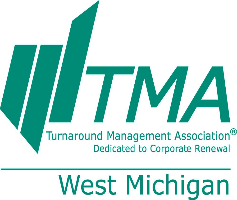 TMA logo with a white background and green lettering
