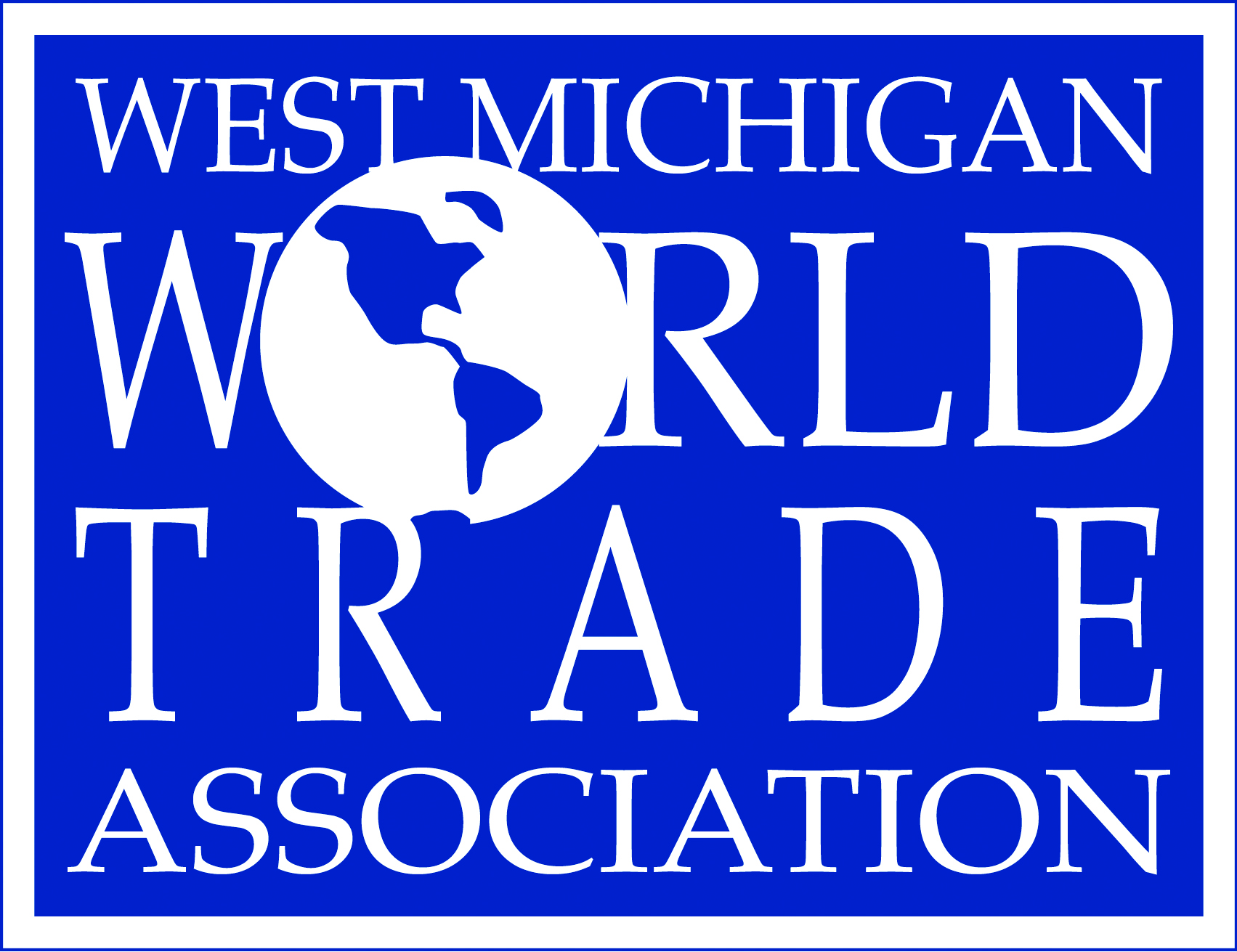 WMWTA logo. Blue Background with white lettering.